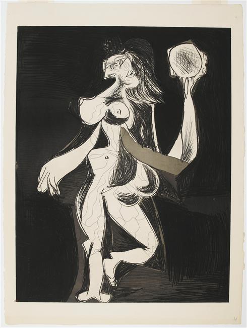 13-Picasso, La femme au tambourin, 1939,