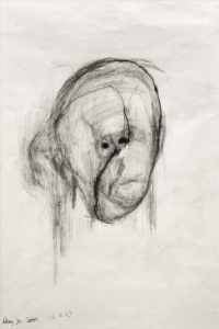 William Utermohlen Head   2000 Pencil on Paper, 40.5x33 cm