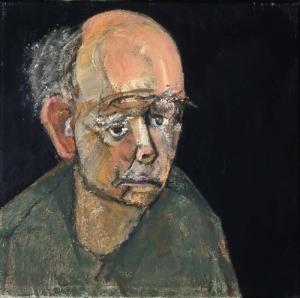 William Utermolhen-Self-Portrait-green-1997-huile-sur-toile-355x355mm