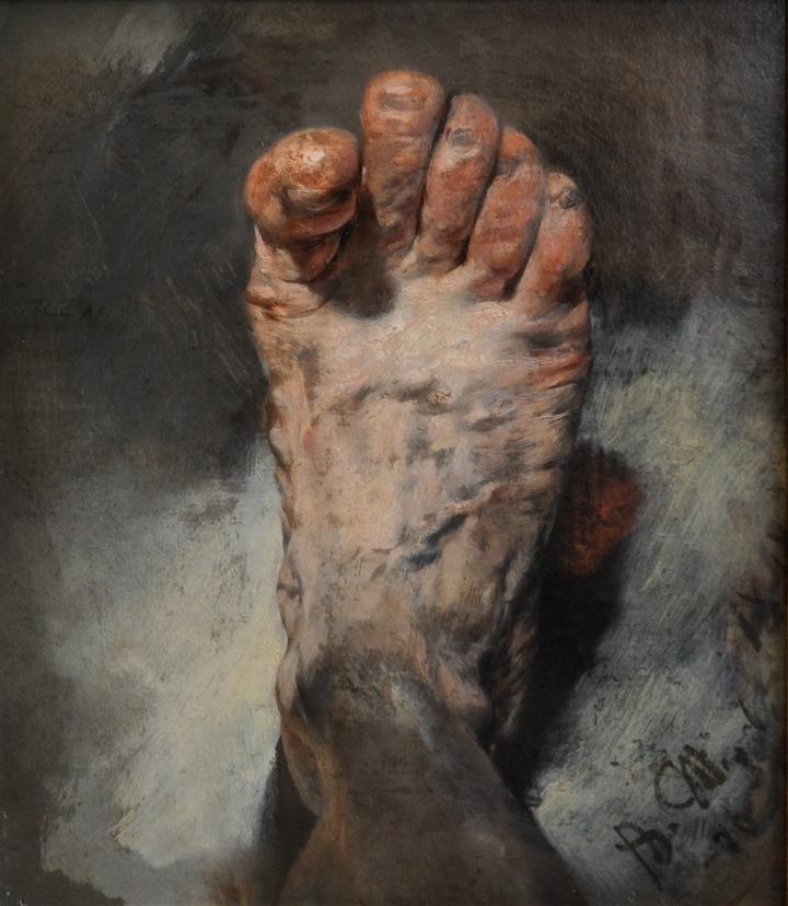 Adolph_Menzel_Fuß_des_Künstlers_1876
