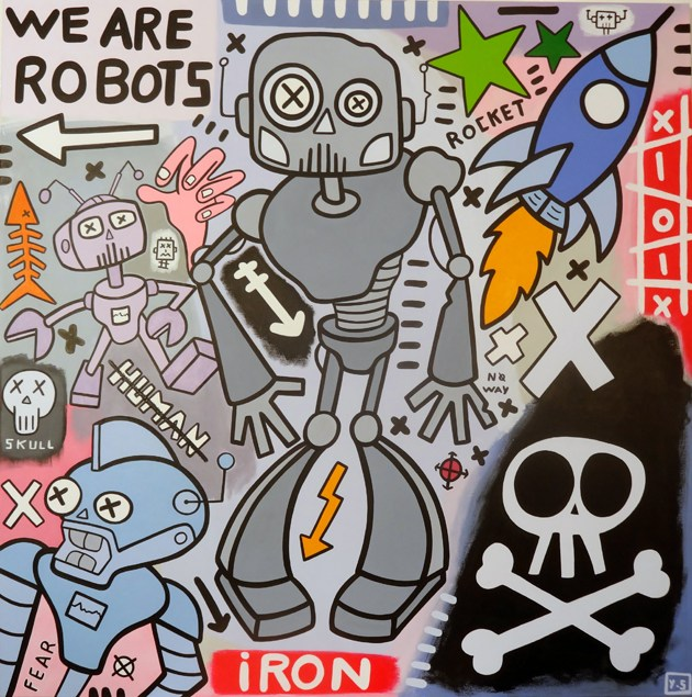 tableau-we-are-robots-artiste-yann-sciberras