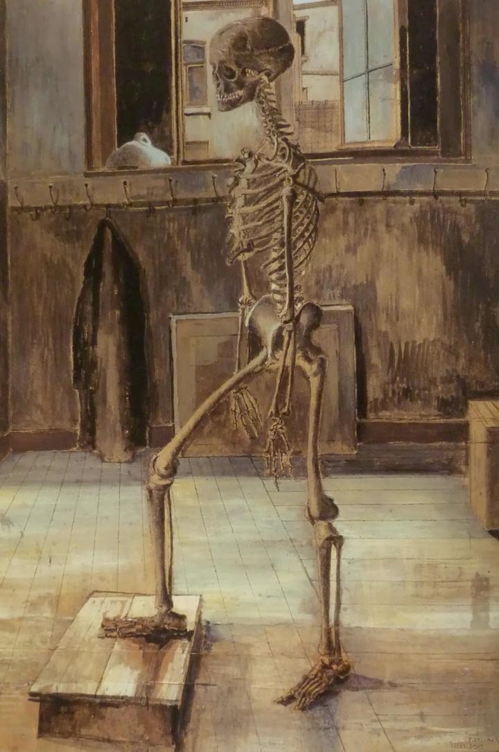 delvaux Paul - Squelette - 1945