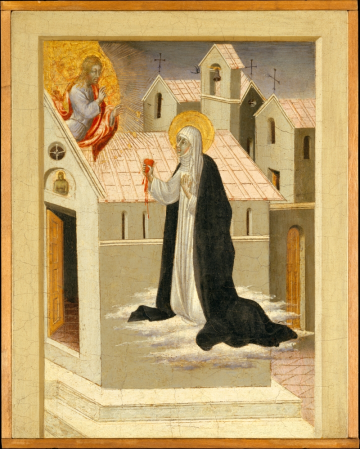 Giovanni_di_Paolo_Saint_Catherine_of_Siena_Exchanging_Her_Heart_with_Christ