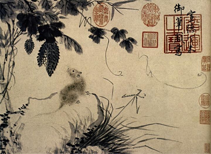 Zhu_Zhanji-Mouse_and_Stone