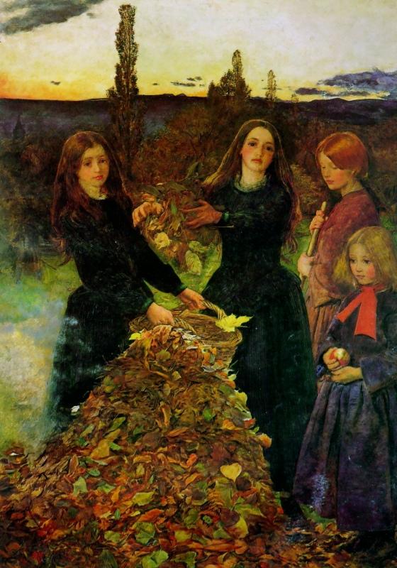 Millais_-_Herbstblätter
