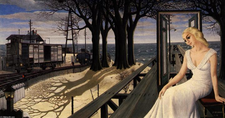Paul-Delvaux-Shadows-