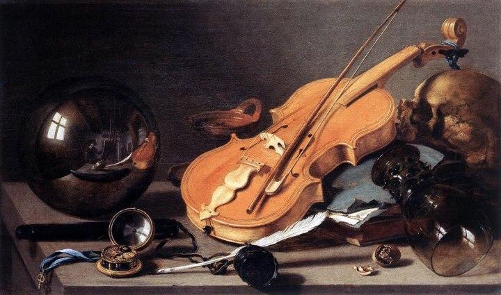 25-01 Pieter Claesz ( 1797-1660)- NAture morte aux instruments de musique ( 1623)- Musée du Louvre