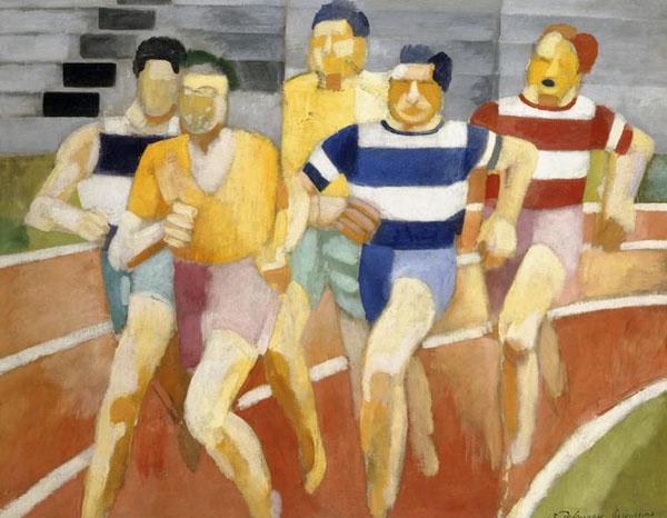Robert_Delaunay,_Les_coureurs,_1924