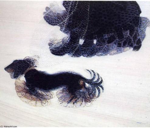 GiacomoBalla, dynamisme d'un chien en laisse, Buffalo, 1912