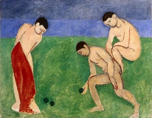Henri Matisse, jeu de boules, Ermitage, 1908